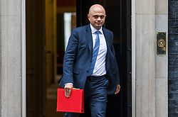 © Licensed to London News Pictures. 27/03/2018. London, UK. Secretary of State for Housing, Communities and Local Government Sajid Javid on Downing Street after the weekly Cabinet meeting. Photo credit: Rob Pinney/LNP