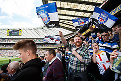 Bath Fans - Photo mandatory by-line: Rogan Thomson/JMP - 07966 386802 - 30/05/2015 - SPORT - RUGBY UNION - London, England - Twickenham Stadium - Bath Rugby v Saracens - 2015 Aviva Premiership Final.