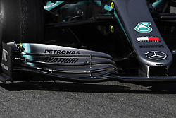 February 18, 2019 - Barcelona, Spain - Front detail, of  Mercedes-AMG Petronas Motorsport car, during the first day of Formula One Test at Catalonia Circuit, on February 18, 2019 in Barcelona, Spain. (Credit Image: © Joan Cros/NurPhoto via ZUMA Press)