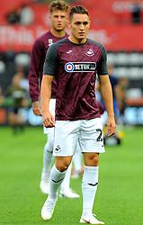 Connor Roberts of Swansea City warms up - Mandatory by-line: Nizaam Jones/JMP- 21/08/2018 - FOOTBALL - Liberty Stadium - Swansea, Wales - Swansea City v Leeds United - Sky Bet Championship