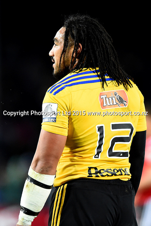 Hurricanes player Ma`a Nonu during their Investec Super Rugby game Crusaders v Hurricanes. Trafalgar Park, Nelson, New Zealand. Friday 29 May 2015. Copyright Photo: Chris Symes / www.photosport.co.nz