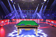 The table before play during the Snooker Players Championship Final at EventCity, Manchester, United Kingdom on 27 March 2016. Photo by Pete Burns.