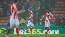 STOKE-ON-TRENT, ENGLAND - Sunday, January 4, 2015: Stoke City's Stephen Ireland celebrates scoring the second goal against Wrexham during the FA Cup 3rd Round match at the Britannia Stadium. (Pic by David Rawcliffe/Propaganda)