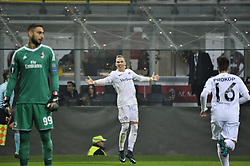 November 23, 2017 - Milan, Italy - Christoph Monschein of FK Austria Wien celebrate the first goal for FK Austria Wien during uefa Europa League AC Milan vs FK Austria Wien at San Siro Stadium (Credit Image: © Gaetano Piazzolla/Pacific Press via ZUMA Wire)