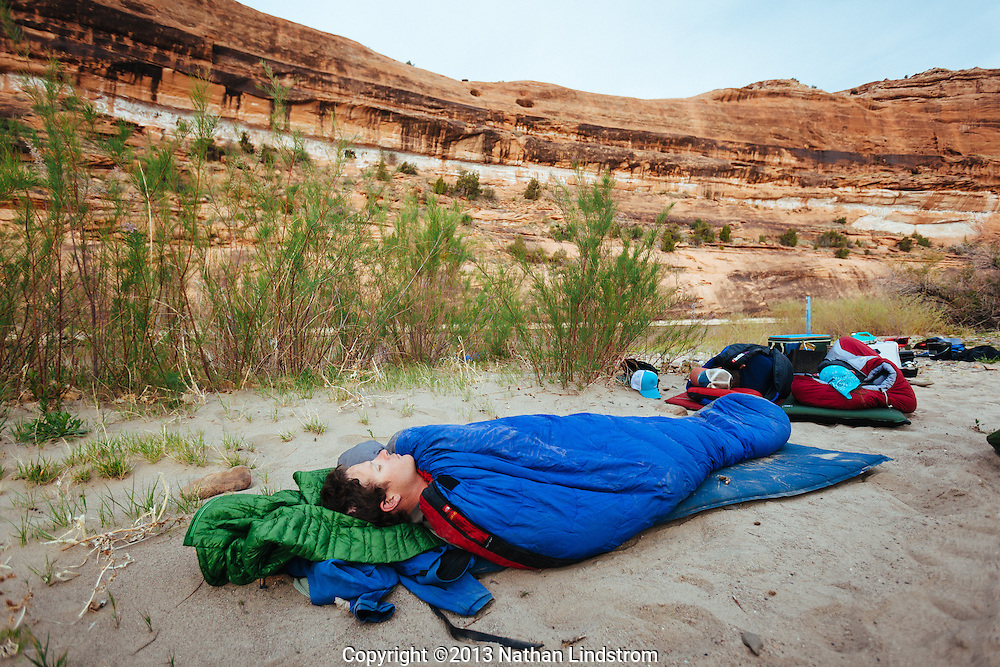 Camping outdoors in Colorado.<br />