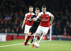 March 14, 2019 - London, England, United Kingdom - Henrikh Mkhitaryan of Arsenal.during Europa League Round of 16 2nd Leg  between Arsenal and Rennes at Emirates stadium , London, England on 14 Mar 2019. (Credit Image: © Action Foto Sport/NurPhoto via ZUMA Press)