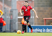 Morecambe's Alex Kenyon(4) during the EFL Sky Bet League 2 match between Morecambe and Mansfield Town at the Globe Arena, Morecambe, England on 27 January 2018. Photo by Paul Thompson.