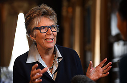 Prue Leith who has been tipped to replace Mary Berry as a judge on The Great British Bake Off, attends A Very Special Afternoon Tea, to help launch Nourish website & community, helping people living with cancer and dementia through the power of good food, real nourishment and expert support at the Royal Hospital Chelsea.