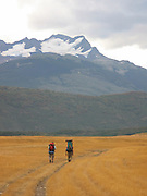 Hiking in Torres Del Paine National Park, Chile.