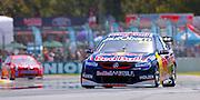 V8 Supercars. Clipsal 500. Adelaide Parklands Circuit.<br /> Adelaide. Australia. Friday 1/3/2013.<br /> Craig LOWNDES (Aus) Rad bull Racing Holden  wins the 78 lap V8 Supercars race one. <br /> copyright: &copy; ATP Damir IVKA<br />  - <br /> V8 Tourenwagen Rennen in Adelaide, Australien - 2013,  v8 Saloon car race named Clipsal 500 - Honorarpflichtiges Foto, Fee liable image, Copyright &copy; ATP Damir IVKA
