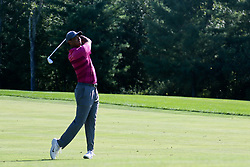 September 1, 2018 - Norton, Massachusetts, United States - Tiger Woods hits a fairway shot on the 11th hole during the second round of the Dell Technologies Championship. (Credit Image: © Debby Wong/ZUMA Wire)