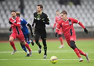 FODBOLD: Lucas Haren (FC Helsingør) rykker mod mål under træningskampen mellem Fremad Amager og FC Helsingør den 2. februar 2019 i Sundby Idrætspark. Foto: Claus Birch