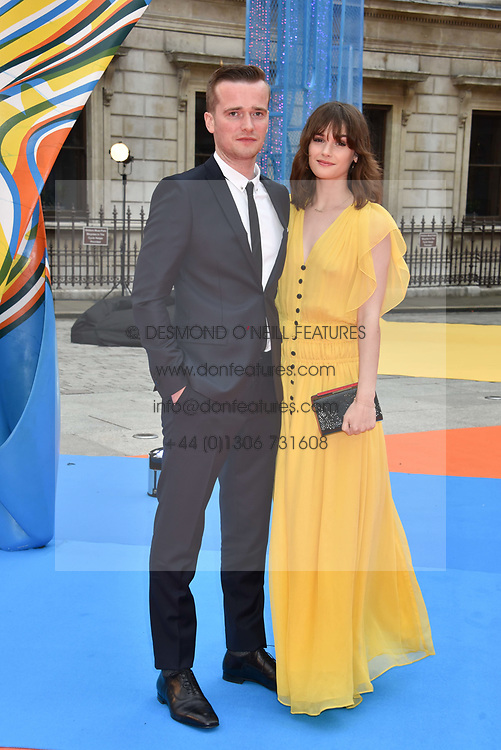 Sai Bennett and Sam Doyle at the Royal Academy of Arts Summer Exhibition Preview Party 2017, Burlington House, London England. 7 June 2017.