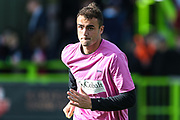Forest Green Rovers Farrend Rawson(6) warming up during the EFL Sky Bet League 2 match between Forest Green Rovers and Cheltenham Town at the New Lawn, Forest Green, United Kingdom on 20 October 2018.