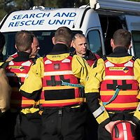 Search for 15 year old Kathleen Harkin…..10.10.16<br />Police Scotland, Scottish Fire and Rescue and Tayside Mountain Rescue Team searching the River Tay in Perth for missing Murthly teenager Kathleen Harkin….Sgt Alan Pettigrew briefs the search teams<br />Picture by Graeme Hart.<br />Copyright Perthshire Picture Agency<br />Tel: 01738 623350  Mobile: 07990 594431