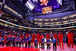January 22, 2019 - Toronto, Ontario, Canada - Toronto Raptors players during Canadian Anthem before  the Toronto Raptors vs Sacramento Kings  NBA regular season game at Scotiabank Arena on January 22, 2018 in Toronto, Canada (Toronto Raptors win 120-105) (Credit Image: © Anatoliy Cherkasov/NurPhoto via ZUMA Press)