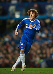 LONDON, ENGLAND - Sunday, February 6, 2011: Chelsea's David Luiz in action on his debut against Liverpool during the Premiership match at Stamford Bridge. (Photo by David Rawcliffe/Propaganda)
