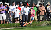 Jul 10, 2015; Lancaster, PA, USA; Hyo Joo Kim hits out of a bunker on the tenth hole during the second round of the U.S. Women's Open at Lancaster Country Club.