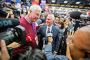 "Bob Knight, a.k.a. ""The Coach"", with Trumps running mate Mike Pence ahead of the debate. The Democrate and Republican nominees for US President, Hillary Rodham Clinton and Donald John Trump, met on Sep. 26th for the first head to head Presidential Debate at the Hofstra University in Long Island."