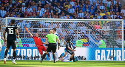 MOSCOW, RUSSIA - Saturday, June 16, 2018: Argentina's Sergio Aguero scores the first goal during the FIFA World Cup Russia 2018 Group D match between Argentina and Iceland at the Spartak Stadium. (Pic by David Rawcliffe/Propaganda)