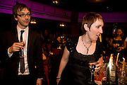 Luke Brown and  Catherine O'Flynn, ( winer of the newcomer of the year award) The Galaxy British Book Awards hosted by Richard Madeley and Judy Finigan. Grosvenor House. Park Lane. London. 9 April 2008. *** Local Caption *** -DO NOT ARCHIVE-© Copyright Photograph by Dafydd Jones. 248 Clapham Rd. London SW9 0PZ. Tel 0207 820 0771. www.dafjones.com.