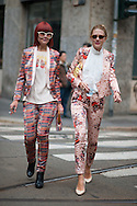 Two Girls in Pink Brocade Suits, Dolce & Gabbana