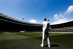 © Licensed to London News Pictures. 27/12/2013. Kevin Pietersen fielding at deep cover during Day 2 of the Ashes Boxing Day Test Match between Australia Vs England at the MCG on 27 December, 2013 in Melbourne, Australia. Photo credit : Asanka Brendon Ratnayake/LNP
