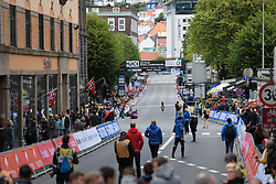 Riders cross the finish line at UCI Road World Championships Elite Women's Individual Time Trial 2017 a 21.1 km time trial in Bergen, Norway on September 19, 2017. (Photo by Sean Robinson/Velofocus)