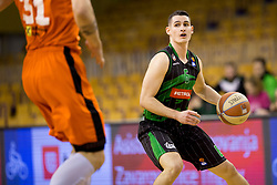 Jan Span of Petrol Olimpija during Basketballl match between Petrol Olimpija Ljubljana and KK Cedevita in Round #18 of ABA League, on January 27, 2018 in Tivoli sports hall, Ljubljana, Slovenia. Photo by Urban Urbanc / Sportida
