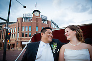 Paige Broska and Ralph Diaz are married at home plate at Coors Field in Denver, Colorado on Saturday, Sept. 29, 2012 with a reception at Maggiano's. (Joshua Buck // Joshua & Co. Photography // www.joshuacophotography.com