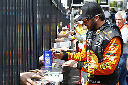 June 1, 2018 - Long Pond, Pennsylvania, United States of America - Martin Truex, Jr (78) signs autographs for fans before qualifying for the Pocono 400 at Pocono Raceway in Long Pond, Pennsylvania. (Credit Image: © Chris Owens Asp Inc/ASP via ZUMA Wire)