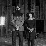 Brian Mathusek & Merry Young of The Mutineers, on Cathlamet Island.