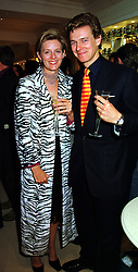 MR & MRS JAMES OGILVY he is the son of Princess Alexandra, at a party in London on 21st September 1999.MWO 102