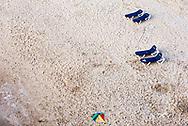 Einde van de dag met een leeg strand in Scheveningen, Den Haag - The end of the day with an emty beach in Scheveningen, The Hague Beach, Netherlands