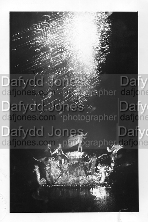 Water Display at Sir Francis Dashwood's house, fancy dress party near Aylesbury 1982.ONE TIME USE ONLY - DO NOT ARCHIVE  © Copyright Photograph by Dafydd Jones 66 Stockwell Park Rd. London SW9 0DA Tel 020 7733 0108 www.dafjones.com