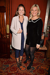 Kate Winser & Olivia Perry at a party to launch the Barr & Bass 'Aya' brand at Mark's Club, 46 Charles Street, Mayfair, London England. 14 December 2016.