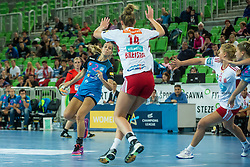 Ana Abina of Krim during handball match between RK Krim Mercator (SLO) and Larvik (NOR) in 3rd Round of Women's EHF Champions League 2015/16, on October 30, 2015 in Arena Stozice, Ljubljana, Slovenia. Photo by Grega Valancic / Sportida