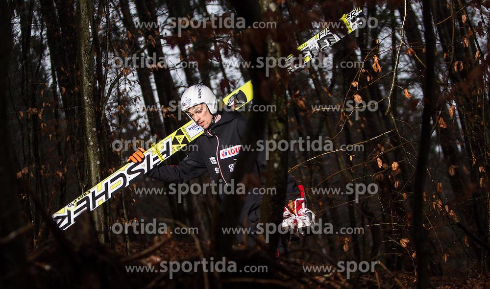 05.01.2014, Paul Ausserleitner Schanze, Bischofshofen, AUT, FIS Ski Sprung Weltcup, 62. Vierschanzentournee, Training, im Bild Piotr Zyla (POL) // Piotr Zyla (POL) during practice Jump of 62nd Four Hills Tournament of FIS Ski Jumping World Cup at the Paul Ausserleitner Schanze, Bischofshofen, Austria on 2014/01/05. EXPA Pictures © 2014, PhotoCredit: EXPA/ JFK