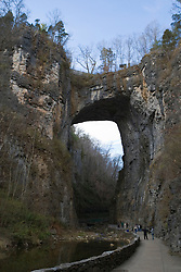 "Natural Bridge, Virginia, one of the ""seven natural wonders of the world"", on January 12, 2008."