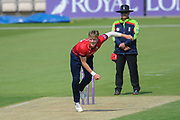 Sam Cook of Essex bowling during the Royal London One Day Cup match between Hampshire County Cricket Club and Essex County Cricket Club at the Ageas Bowl, Southampton, United Kingdom on 23 May 2018. Picture by Dave Vokes.