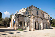 Old templer building in Beit Lehem Haglilit, Israel. Bethlehem of the Galilee is a small community located in the western Galilee (northern Israel) was founded by the Haifa Templers in 1906