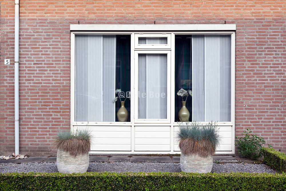 landscaped front yard garden in Holland