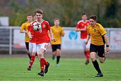MERTHYR TYDFIL, WALES - Thursday, November 2, 2017: Wales' Charlie Williams during an Under-18 Academy Representative Friendly match between Wales and Newport County at Penydarren Park. (Pic by David Rawcliffe/Propaganda)