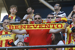 June 8, 2017 - Benevento, Campania/Benevento, Italy - Benevento disputes the final for the play off.This evening at Benevento at the Vigorito Stadium, the Benevento team faced Carpi for the final shootout of athletes in Serie A..A city that has proved to be so busy with the event as the stadium was littered with about 15,000 payers. (Credit Image: © Fabio Sasso/Pacific Press via ZUMA Wire)