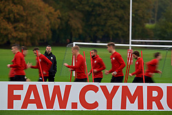 CARDIFF, WALES - Sunday, October 14, 2018: Wales' manager Ryan Giggs during a training session at the Vale Resort ahead of the UEFA Nations League Group Stage League B Group 4 match between Republic of Ireland and Wales. (Pic by David Rawcliffe/Propaganda)