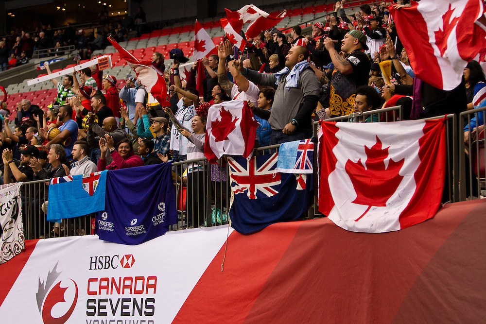Canada plays Brazil at the HSBC Sevens World Series XVII Round 6 at B.C. Place Stadium in Vancouver British Columbia on March 13, 2016. Canada beat Brazil 19-0. (KevinLight/CBCSports)