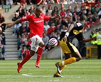 Photo: Steve Bond/Richard Lane Photography. <br />Nottingham Forest v Yeovil Town. Coca-Cola Football League One. 03/05/2008. Junior Agogo takes off for goal
