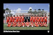 2005 Miami Hurricanes Women's Soccer Team Photo