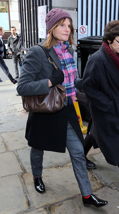 Actress Gwyneth Strong who played Cassandra in TV comedy Only Fools and Horses arriving for the funeral of Roger Lloyd-Pack who played Trigger in the show,  at St.Paul's Church in  London, Thursday, 13th February 2014. Picture by Stephen Lock / i-Images