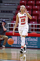 01 January 2017: Katrina Beck during an NCAA Missouri Valley Conference Women's Basketball game between Illinois State University Redbirds the Braves of Bradley at Redbird Arena in Normal Illinois.